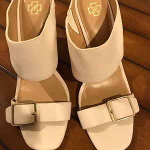Ann Taylor NWT Ivory Leather Shoes Size 7-1/2